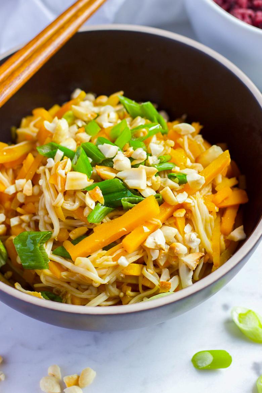 10-minute Pumpkin and Enoki Mushroom Salad
