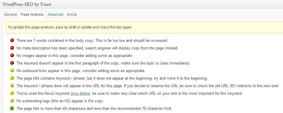 WordPress SEO by Yoast - Not Working With PageBuilder - 1
