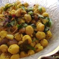 Healthy Snack for Diabetics ~ Chickpea Salad or Sundal!