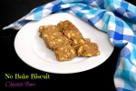 No Bake Biscuit Chocolate Bars