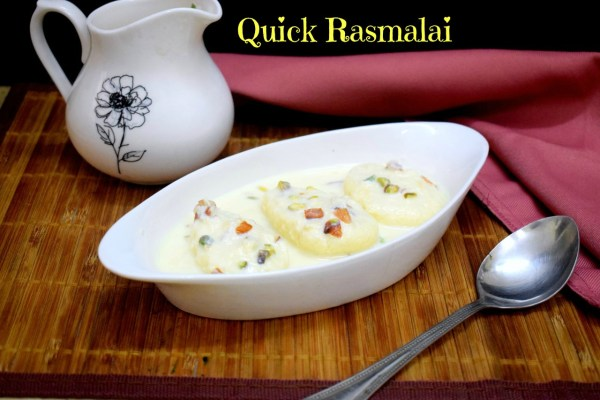 Quick Rasmalai