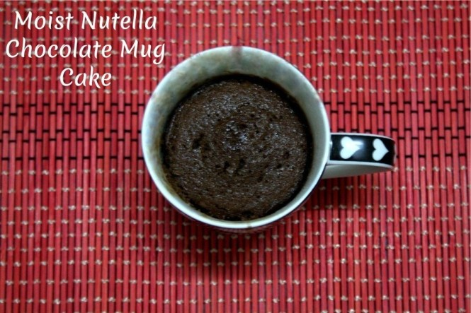 Moist Nutella Chocolate Mug Cake