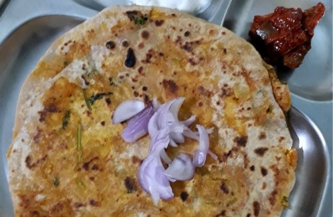 Cauliflower Aloo Stuffed Paratha