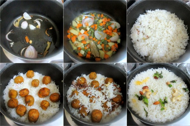 Making Zafrani Kofta Coconut Pulao