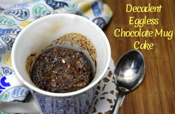 Decadent Eggless Chocolate Mug Cake