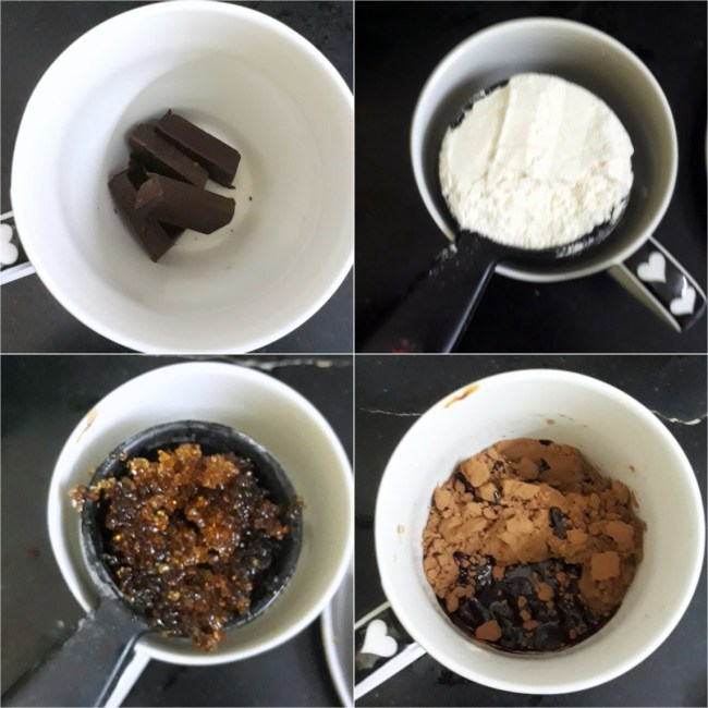 Eggless Microwave Mug Double Chocolate Brownie 1
