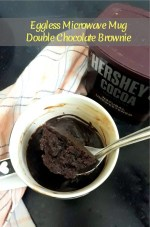 Eggless Microwave Mug Double Chocolate Brownie