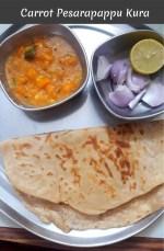Carrot Pesarapappu Kura