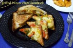 Grilled Paneer Pizza Sandwich