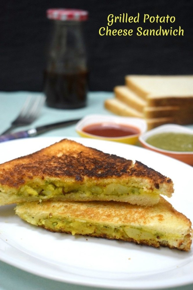How to make Grilled Potato Cheese Sandwich