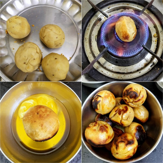How to make Litti on Direct Flame