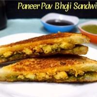 Paneer Pav Bhaji Sandwich