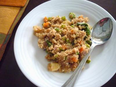 Samba Goduma Upma with Vegetables