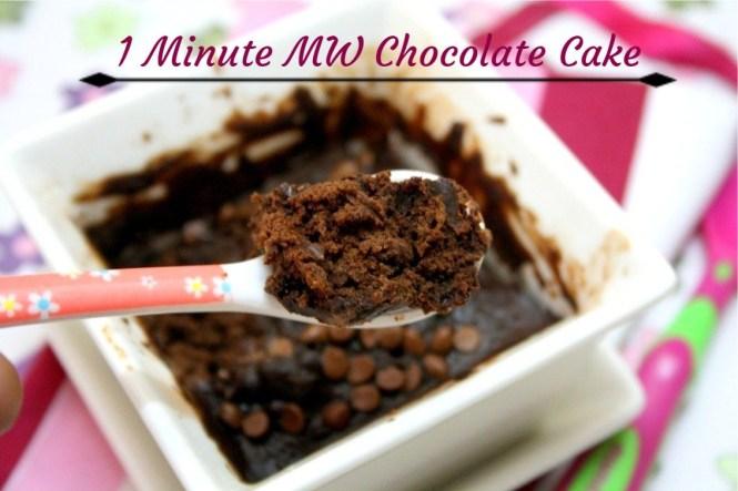 1 Minute MW Chocolate Cake
