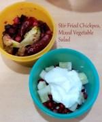 Stir Fried Chickpea, Mixed Vegetable Salad