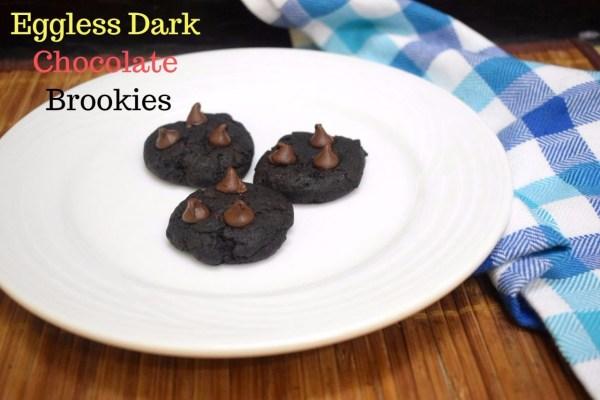 Eggless Dark Chocolate Brookies