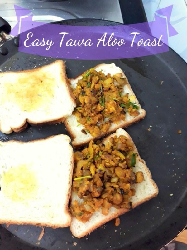 Easy Tawa Aloo Toast