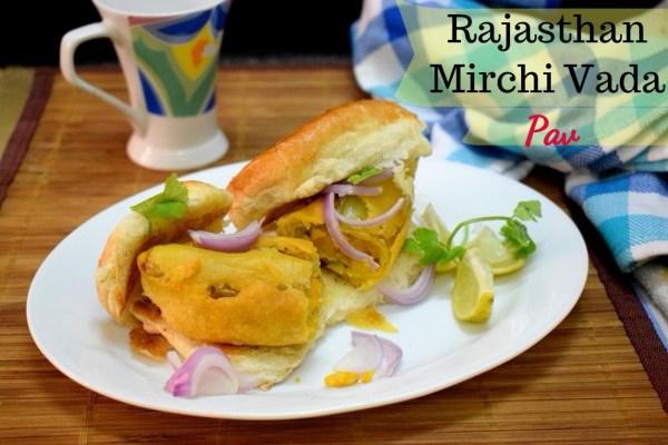 Rajasthan Mirchi Vada Pav