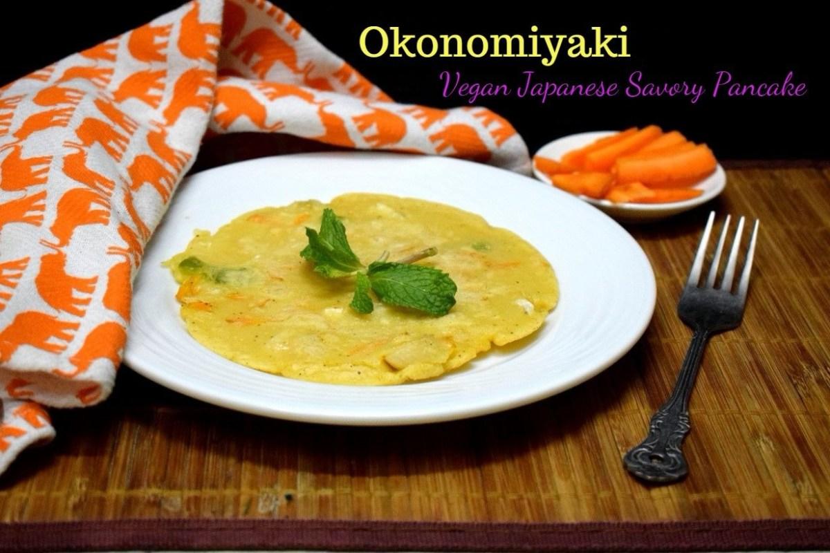 Okonomiyaki ~ Vegan Japanese Savory Pancake