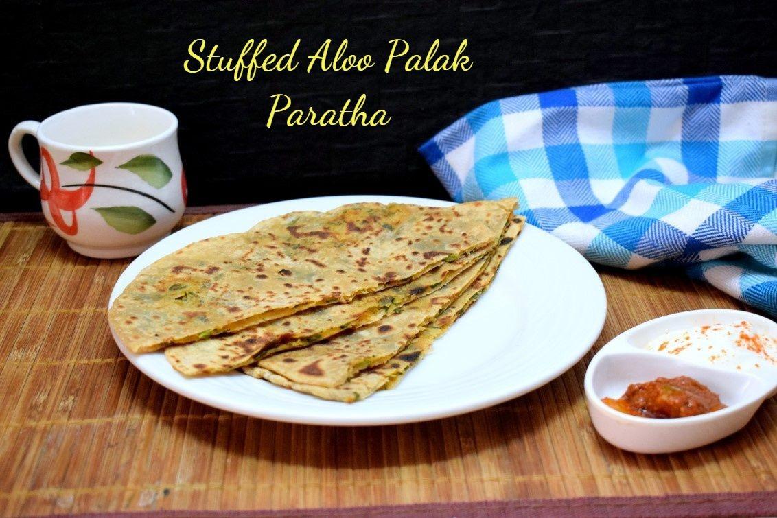Stuffed Aloo Palak Paratha | How to make Potato Spinach Paratha