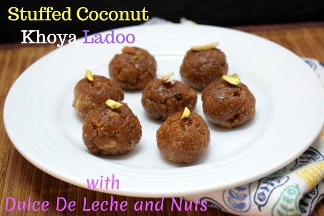 Stuffed Coconut Khoya Ladoo