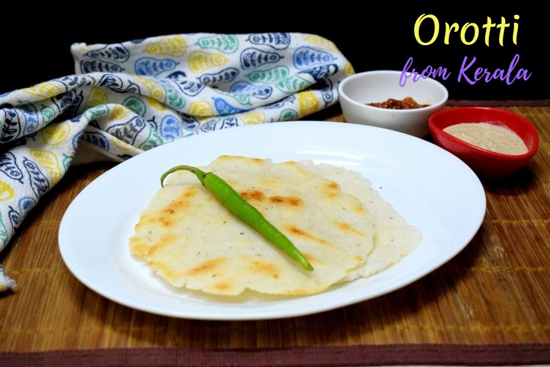 Orotti | Rice Coconut Roti from Kerala