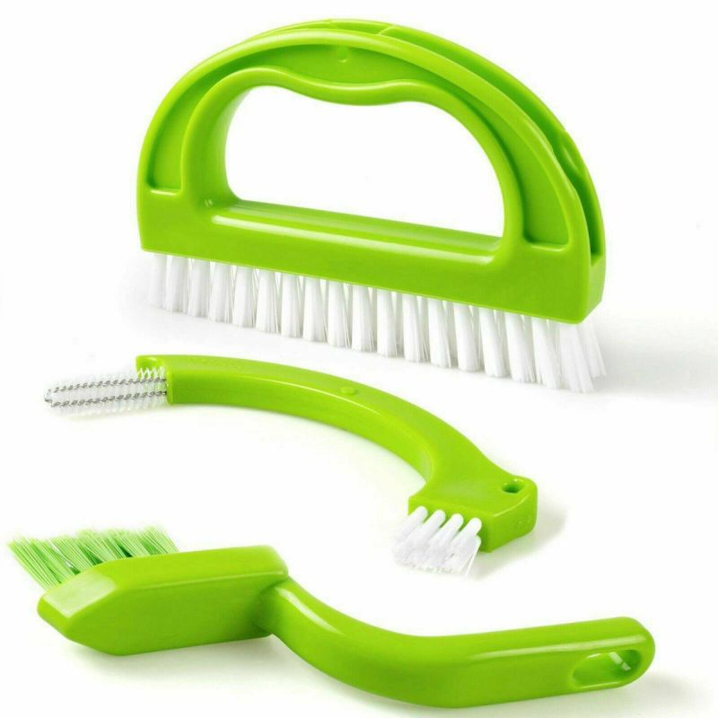 spicom 3 in 1 tile grout cleaner brush for kitchen bathroom dirt scrubbing tool stiff bristles cleaning joints scrubber
