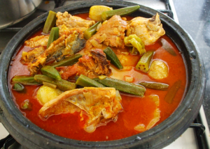 Fufu with palmnut soup
