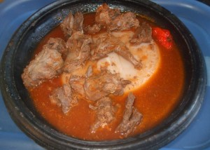 fufu with rabbit light soup