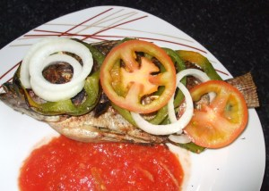 ganished grilled tilapia