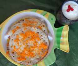 carrot cheese dosa kids breakfast