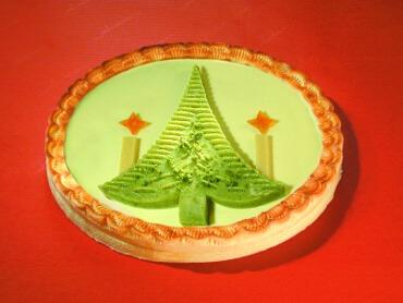 Marzipan mit Weihnachtsmotiv