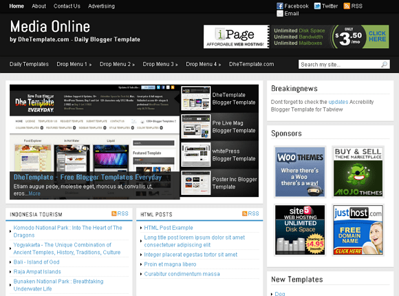Free Online Magazine Template  must read blank coupon twitter page