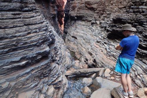 das Ende vom Wanderweg im Knox Gorge