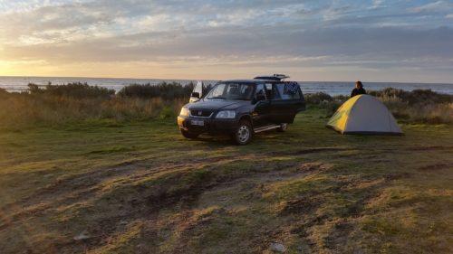 Honda CR-V beim Camping