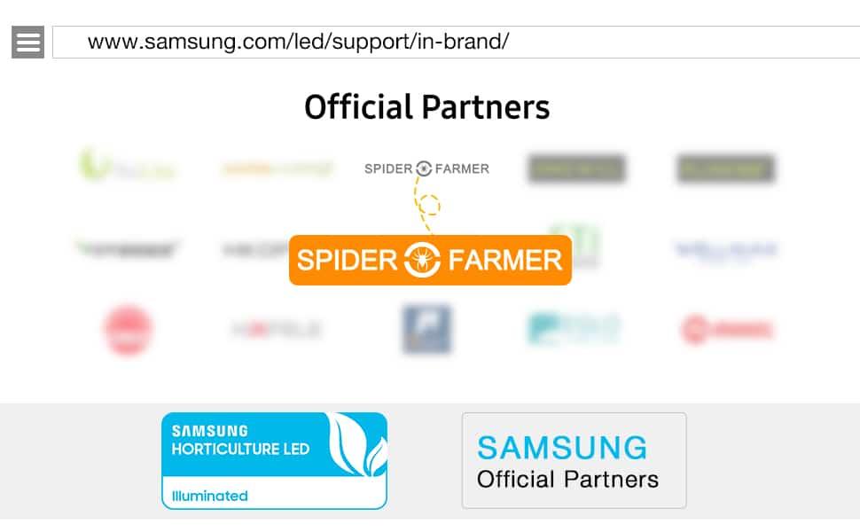 Samsung led official partner