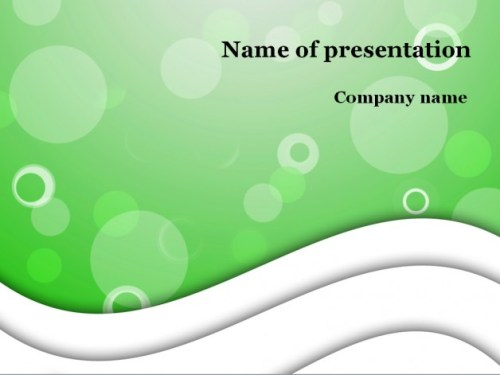 Green bubble powerpoint template