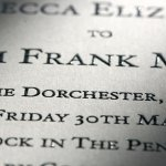bespoke thermographed wedding invitation