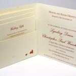Die Cut Wedding Invitation with 3 inserts