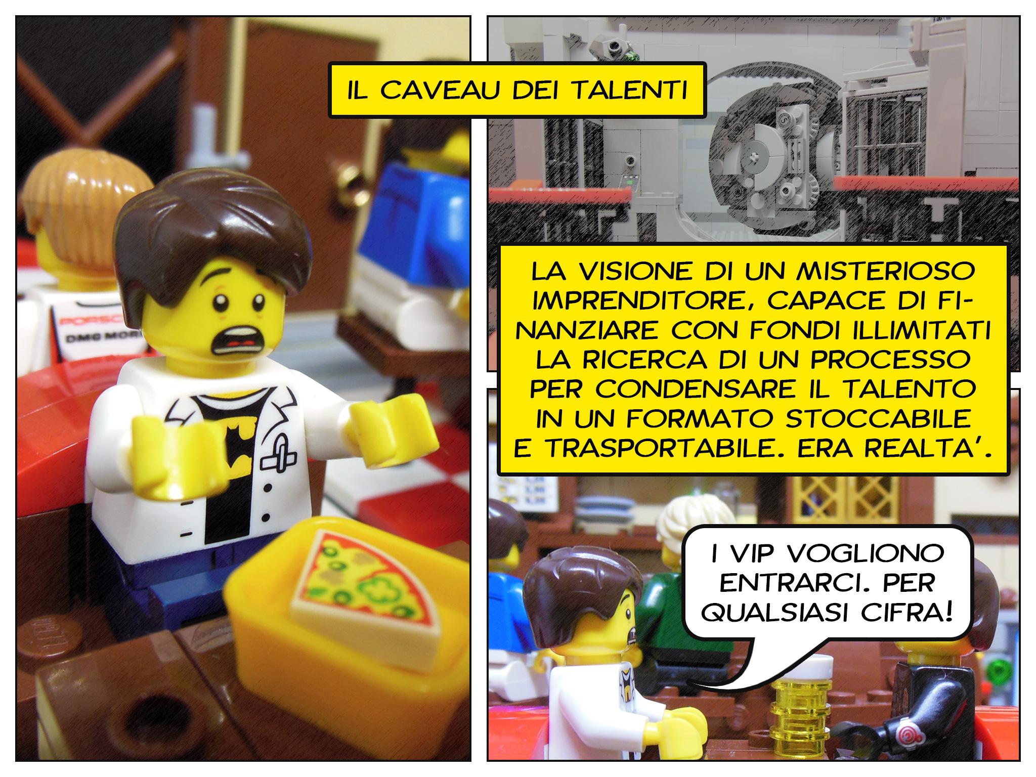 Faccio quello che voglio, il prequel a Lego fumetti - il caveau dei talenti
