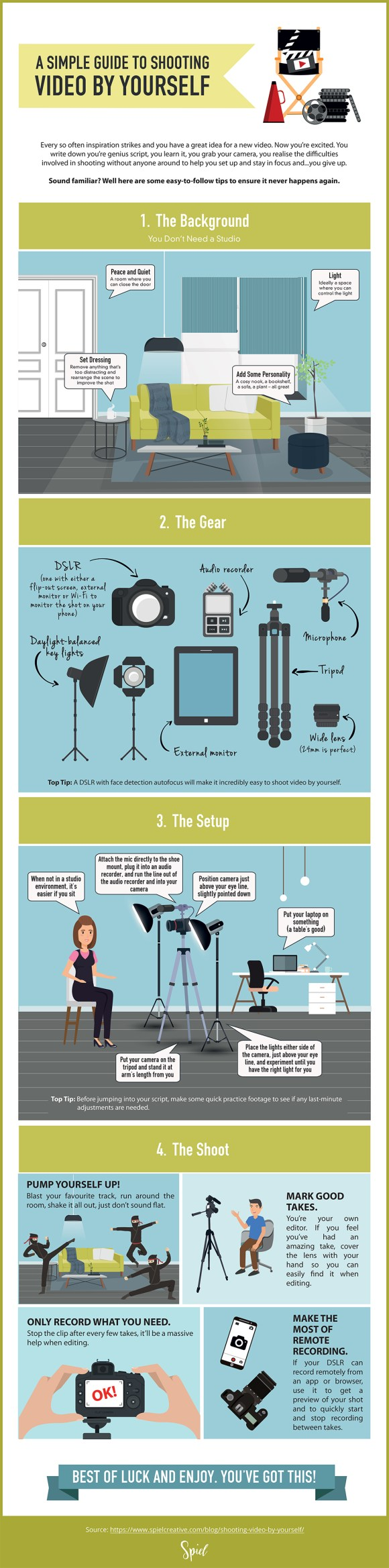 A Simple Guide to Shooting Video by Yourself (Infographic)
