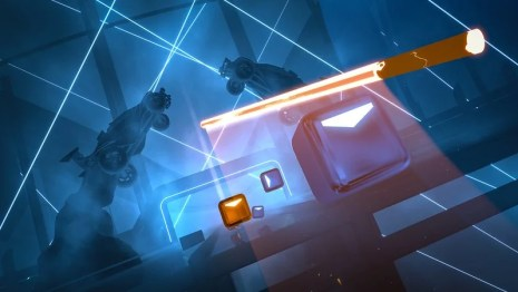 Beat Saber x Rocket League mashup on PS4