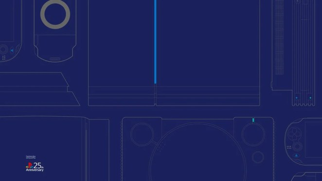 #25YearsOfPlay Wallpaper: Desktop - Blue