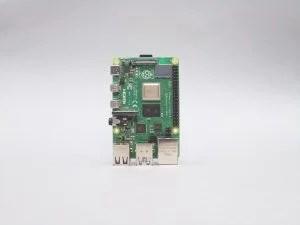 Photograph of a Raspberry Pi 4 captured by the Raspberry Pi High Quality Camera