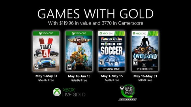 Games with Gold - May 2020