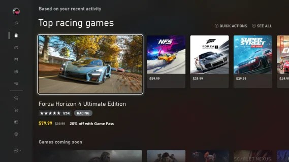 Microsoft Store Browse View