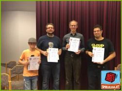 """Spieleliga """"ICECOOL"""" - 1. Platz: Clemens, 2. Platz: Dennis, 3. Platz: Frederick, 4. Platz: Dorian"""