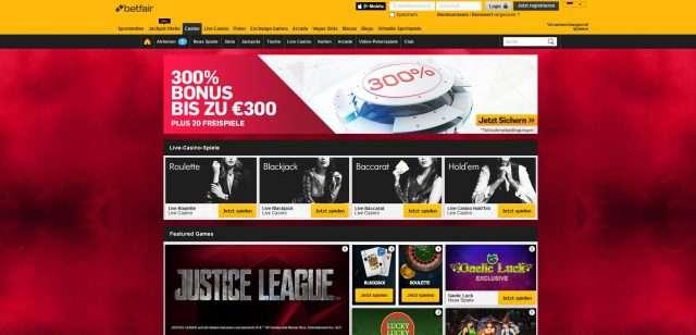 Betfair Online Casino mit Lizenz ist legitim zu spielen