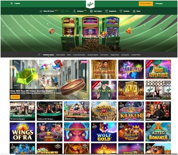 Mr Green perfektes mobiles Casino für deutsche Spieler