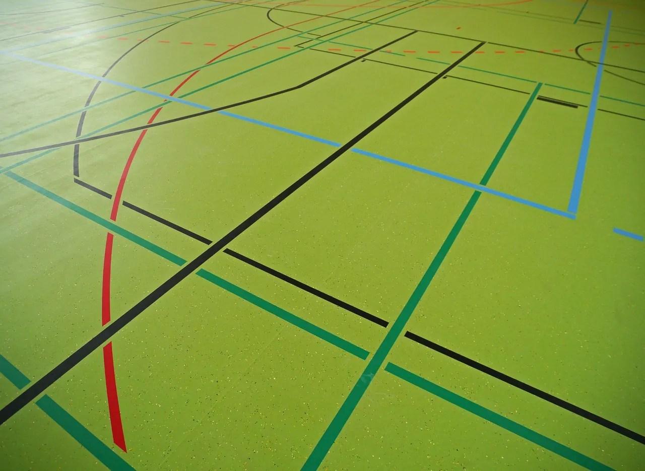 das spielfeld beim handball regeln